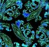 lovely gothic design in aqua.